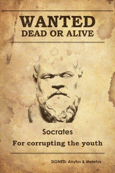 O Estado mandou matar Sócrates. Não é razoável supor que lhe dariam uma escola para dirigir.